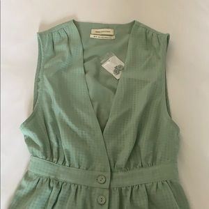 mint green gingham romper